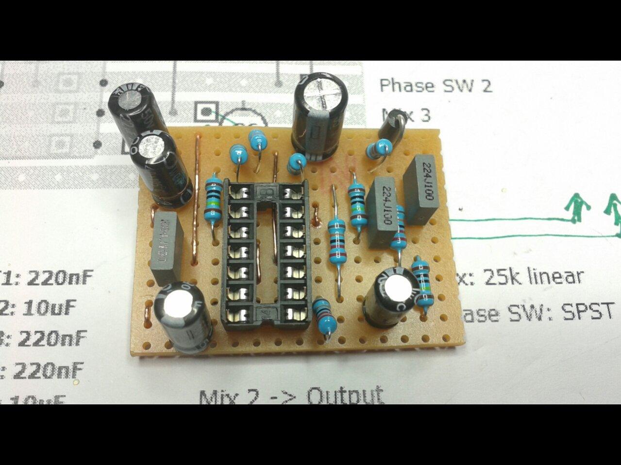 Circuito Boost : Circuito booster chitarra vox flat boost per